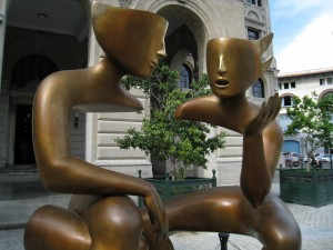 """The Conversation,"" in Havana's Assisi Square."